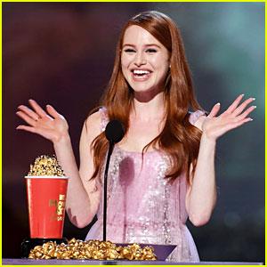 Madelaine Petsch Wins Scene Stealer Award at MTV Movie & TV Awards!