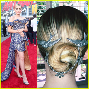 Meg Donnelly Wore Birds In Her Hair For 'Ant Man & The Wasp' Premiere