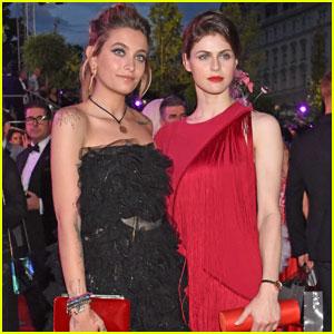 Paris Jackson & Alexandra Daddario Step Out at Life Ball in Austria