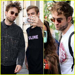 Robert Pattinson Stops to Pose for Some Fan Selfies!