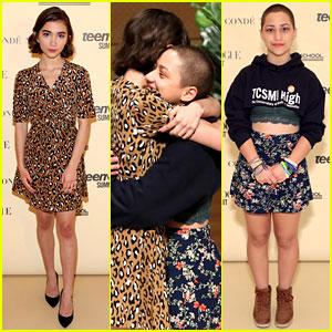 Rowan Blanchard & Emma Gonzalez Celebrate Pride at Teen Vogue Summit