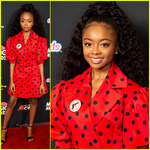 Skai Jackson Wears 'No Guns' Statement Pin at Radio Disney Music Awards 2018