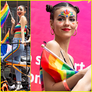 Victoria Justice Shows Her Colors at NYC Pride Parade 2018!