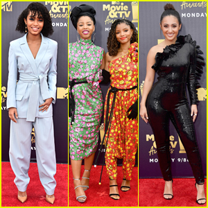 Yara Shahidi, Chloe X Halle, & Francia Raisa Step Out for MTV Movie & TV Awards 2018!