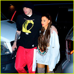 Ariana Grande & Fiance Pete Davidson Step Out for Late-Night Dinner Date!