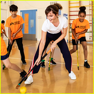 Emma Watson Gets Kids Excited About Hockey in London!