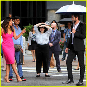 Liam Hemsworth & Priyanka Chopra Film Dancing Scene for 'Isn't It Romantic'