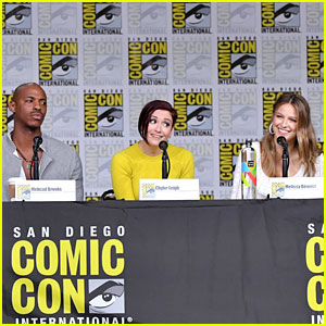 Melissa Benoist, Mehcad Brooks, & Chyler Leigh Bring 'Supergirl' to Comic-Con!