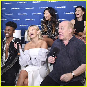 Olivia Holt & Aubrey Joseph Stop By SiriusXM at Comic-Con 2018