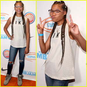 Storm Reid Shows Her Sporty Side at MBJAM!