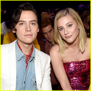 Cole Sprouse & Lili Reinhart Get Photobombed by KJ Apa at the Teen Choice Awards!