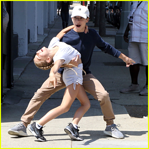 DWTS Juniors Pros Jake Monreal & Kamri Peterson Dance It Up In The Streets