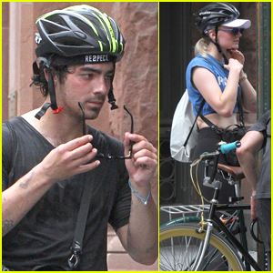 Joe Jonas Heads Out for a Bike Ride with Sophie Turner in NYC!