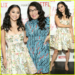 Lana Condor Joins Author Jenny Han at 'To All The Boys I've Loved Before' Premiere