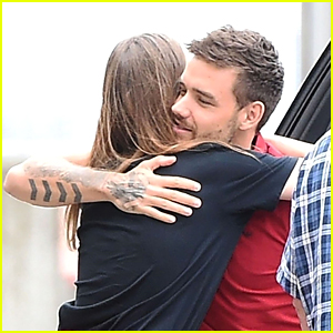 Liam Payne Gives a Friend a Hug After Returning to London!