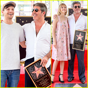 Louis Tomlinson & Grace VanderWaal Step Out for Simon Cowell's Walk of Fame Ceremony!