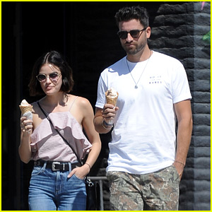 Lucy Hale & Ryan Rottman Have Cute Ice Cream Date