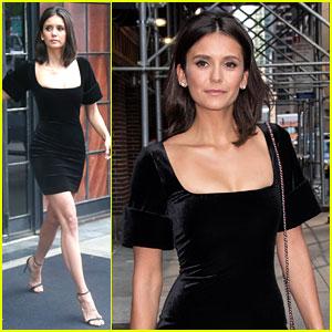 Nina Dobrev Looks So Chic in This LBD!
