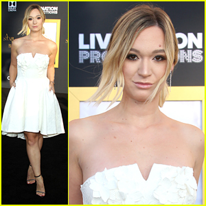 Alisha Marie Wows in A White Dress at 'Star is Born' Premiere
