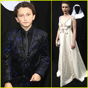 August Maturo Joins Taissa Farmiga at 'The Nun' Premiere