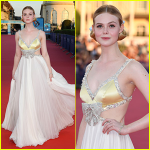 Elle Fanning Has a Princess Moment in Deauville