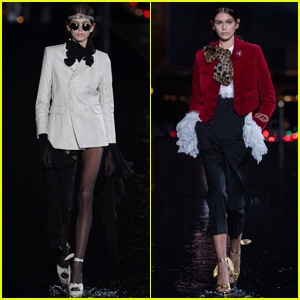 Kaia Gerber Gets Support From Mom Cindy Crawford During 'Saint Laurent' Show