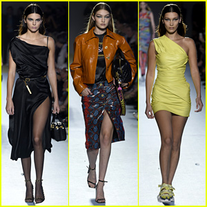 Bella & Gigi Hadid Rave About Versace Show After Walking with Kendall Jenner!