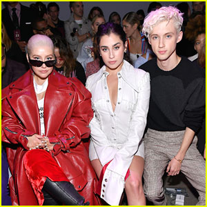 Lauren Jauregui Sits With 'Legends' Troye Sivan & Christina Aguilera at Christian Cowan Show