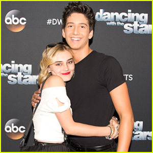 Meg Donnelly Supports Milo Manheim At 'Dancing With the Stars' Premiere