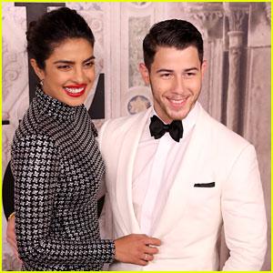 Nick Jonas & Fiancee Priyanka Chopra Are a Cute Couple at Ralph Lauren's NYFW Show