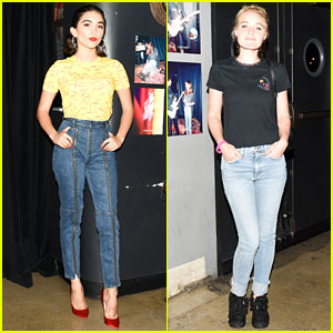 Rowan Blanchard & AJ Michalka Show Off Their Denim at J Brand's New Collection Launch