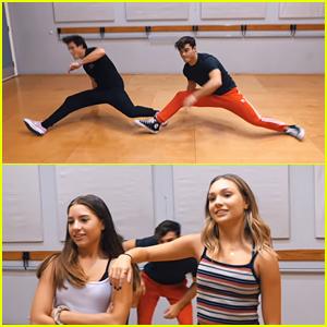 Dolan Twins Learn To Dance From Maddie & Kenzie Ziegler (Video)