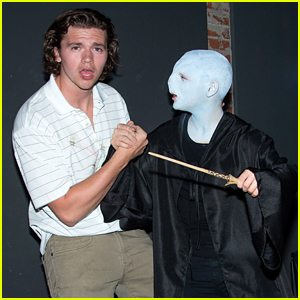 Joey King (as Voldemort!) Reunites with Joel Courtney at Just Jared's Halloween Party!