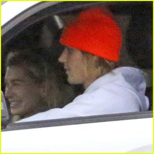 Justin Bieber & Hailey Baldwin Arrive Back in LA After Weekend Trip to Canada