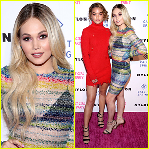 Kelli Berglund & Paris Berelc Step Out Together For Nylon's It Girl Party 2018
