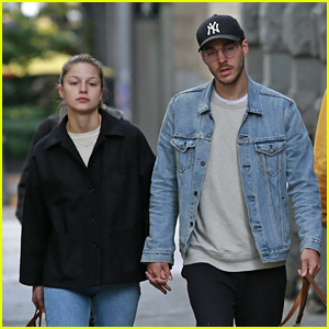 Melissa Benoist & BF Chris Wood Take a Cute Stroll Together in Canada!