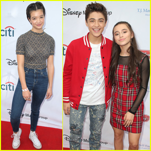Peyton Elizabeth Lee & Sky Katz Support Asher Angel at LA Family Day!