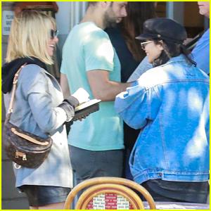 Vanessa Hudgens & Ashley Tisdale Meet Up For Lunch in LA