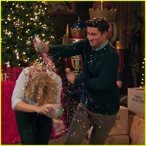 Emily Osment & Ryan Rottman Have Huge Glitter Fight in 'Christmas Wonderland' Trailer
