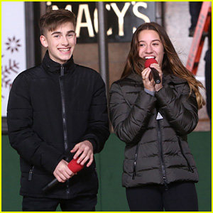 Kenzie Ziegler & Johnny Orlando Rehearse For Macy's Thanksgiving Day Parade