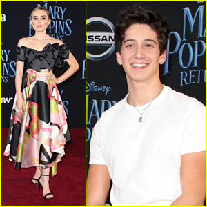 Meg Donnelly Flies Into 'Mary Poppins Returns' Premiere With Milo Manheim