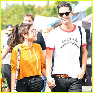 Sarah Hyland & Boyfriend Wells Adams Hold Hands at the Farmers Market!