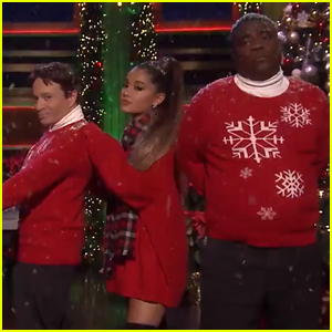 Ariana Grande Gets Into the Holiday Spirit with 'SNL' Legends!