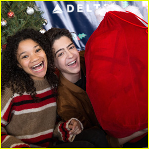 Joshua Rush & Kylee Russell Ring In The Holidays With Delta's Holiday In The Hangar