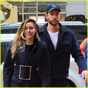 Miley Cyrus is Joined by Liam Hemsworth in NYC!