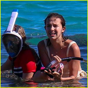 Millie Bobby Brown & Lilia Buckingham Go Snorkeling in Hawaii!