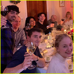 Sophie Turner's Family Hosts the Jonas & Chopra Families for Christmas!