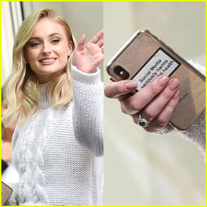 Sophie Turner Has Mental Health Reminder On Her Phone Case