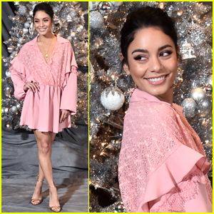 Vanessa Hudgens Goes Pretty in Pink for 'Second Act' Photocall!