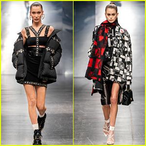 Bella Hadid & Kaia Gerber Rule the Versace Runway in Milan